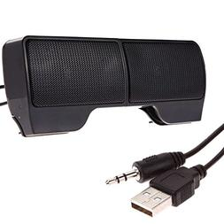 1 Pair Mini Portable Clip-on USB Stereo Speakers line Contro