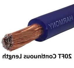 Harmony Audio 1/0 0 Gauge Car Stereo Matte Blue Power Cable