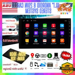 """10.1"""" Android 8 2DIN Car Stereo System Bluetooth Touch Radio"""