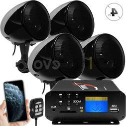 1000W Amp Bluetooth Waterproof ATV UTV RZR Polaris Stereo 4