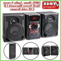100W Home Audio System Shelf Stereo Bluetooth CD USB with Re