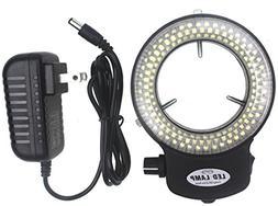LED-144-ZK Black Adjustable 144 LED Ring Light Illuminator f
