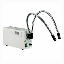 AmScope 150W Fiber Optic Dual Gooseneck Microscope Illuminat