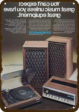 1975 PIONEER STEREO SYSTEM & TURNTABLE Vintage-Look REPLICA