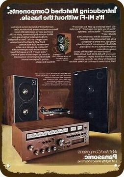 1976 PANASONIC RA-6600 STEREO RECEIVER & SYSTEM Vintage Look