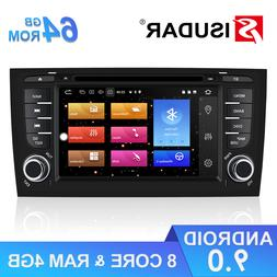 Isudar 2 Din Car Multimedia Player Android 9 For Audi/A6/S6/