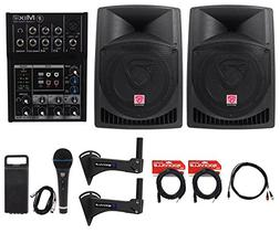 "2) Rockville 12"" Powered 800w Crossfit Gym Workout Speaker S"
