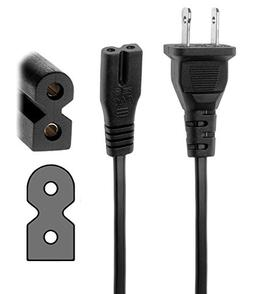 AIR SIX 6Ft 2 Prong Polarized AC Wall Power Cable Cord Plug