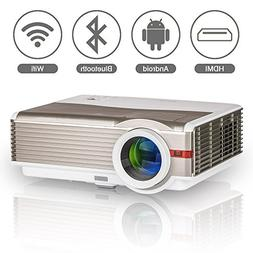 Wireless LED LCD Smart Android Bluetooth Projector with Wifi