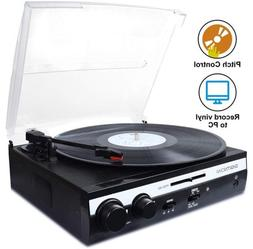 3-speed Turntable Vinyl LP Record Player Converter Built-in