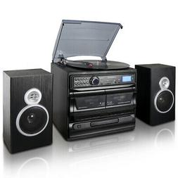 Trexonic 3-Speed Vinyl Turntable Home Stereo System with CD