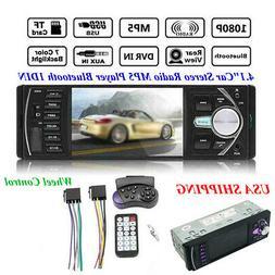 "4.1""Car Stereo Radio HD MP5 Player Bluetooth 1DIN USB FM Aud"