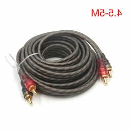 4.5-5M 2RCA Male to 2RCA Male Car Stereo Audio System Extens