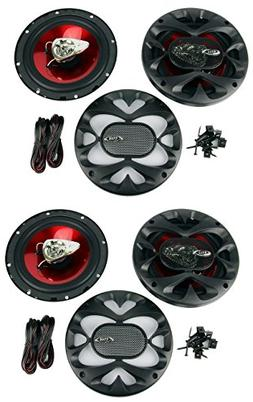 "4) New BOSS CH6500 6.5"" 2-Way 400W Slim Mount Car Coaxial Sp"