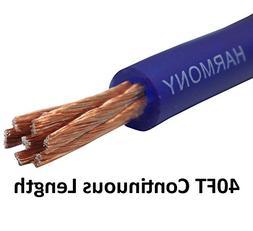 Harmony Audio 4 Gauge 4GA Car Stereo Matte Blue Power Cable