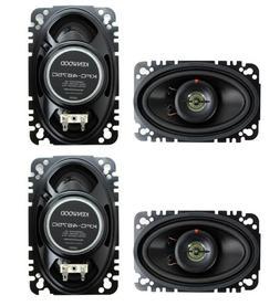 "4) New Kenwood KFC-4675C 4x6"" 120 Watt 2-Way Car Audio Speak"