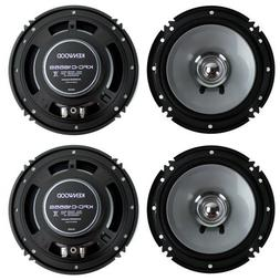 "4) New Kenwood KFC-C1655S 6.5"" 600 Watt 2-Way Car Audio Coax"