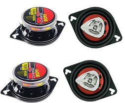 "4) New BOSS CH3220 3.5"" 2-Way 280W Car Audio Coaxial Speaker"