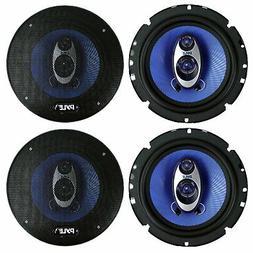 "4) NEW Pyle PL63BL 6.5"" 720 Watt 3-Way Car Audio Coaxial Spe"