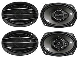 "4) New PIONEER TS-A6964R 6x9"" 3-Way 800W Car Speakers"