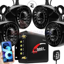 """5"""" 1000W Amp Bluetooth ATV UTV RZR Polaris Stereo Marine 4 S"""