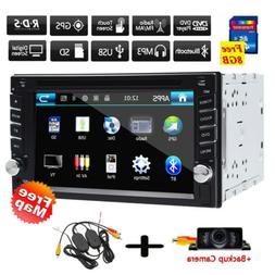 6.2 Inch Double 2Din Car Stereo GPS Navigation System with D
