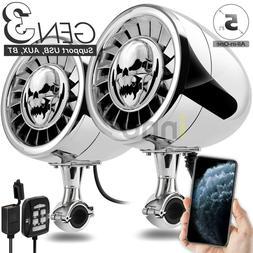 600W Bluetooth Waterproof ATV UTV RZR Polaris Stereo 2 Speak