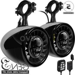 600W Bluetooth Waterproof ATV UTV RZR Polaris Stereo Speaker