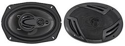 6x9 4 Way Car Audio Speakers Pair Door Stereo Power Bass Mus
