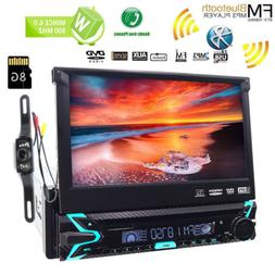 "7"" Flip Out Car Radio 1DIN Stereo CD DVD MP5 GPS Navigation"