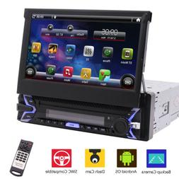 "7"" Single 1Din In Dash Car Stereo Radio DVD Player GPS AUX N"