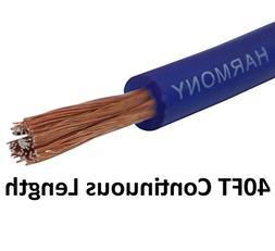 Harmony Audio 8 Gauge 8GA Car Stereo Matte Blue Power Cable
