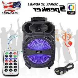 """8"""" Party Bluetooth Speaker 1000 Watts System Led Portable St"""
