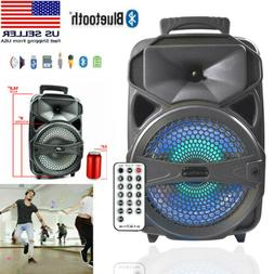 """8"""" Party Speaker System Wireless Bluetooth Portable Big Led"""