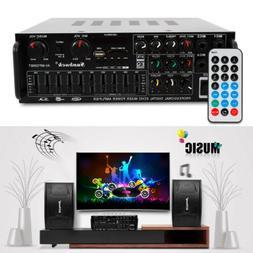 800W Sound Audio Stereo Receiver FM USB Bluetooth Power Ampl