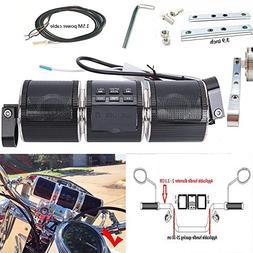 AUSID Motorcycle Bluetooth Speakers,12V Waterproof HIFI Blue