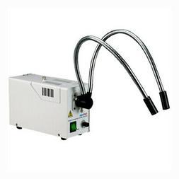 AmScope 150 Watt Bifurcated Fiber Optic Illuminator for Ster