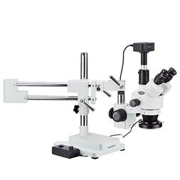 AmScope 3.5X-90X Zoom Magnification Stereo Microscope on Boo
