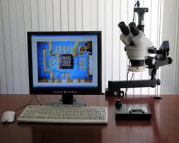 AmScope 3.5x-90x Trinocular Articulating Zoom Microscope + R