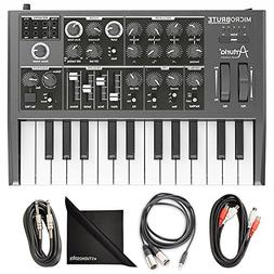 Arturia MicroBrute Analog Synthesizer w/AxcessAbles Cable Pa