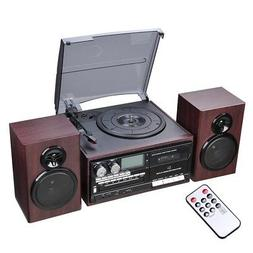 Wireless Stereo Record Player System with Speakers Turntable