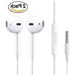 CaseyPop 2-PACK Premium Earphones/Earbuds/Headphones with St