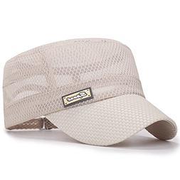 ChezAbbey Unisex Quick Dry Flat Top Cadet Caps Adjustable Sn
