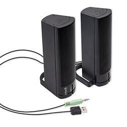 Computer USB Powered Monitor Speaker Sound Bar 3.5mm Audio W