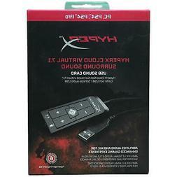 HyperX - Cloud Virtual 7.1 USB External Sound Card plus clot
