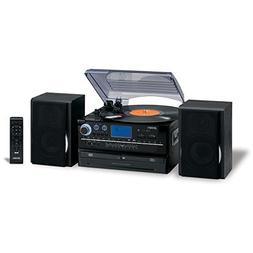Jensen 3-Speed Turntable CD/AM/FM Music System Cassette Enco