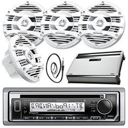 New Kenwood Marine Bluetooth CD MP3 USB AUX iPod iPhone Radi