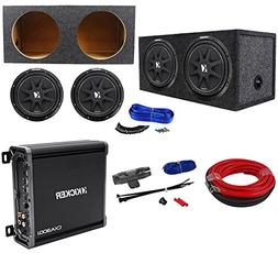 "Package:  KICKER 43C124 Comp 12"" Car Subwoofers Totlaing 600"