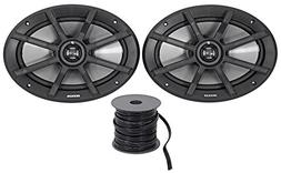 "Package: Pair of Kicker 40PS692 6x9"" 2-Ohm ATV/Motorcycle Sp"