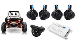"Rockville 6.5"" Tower Speakers+Kicker Bluetooth Control+Ampli"
